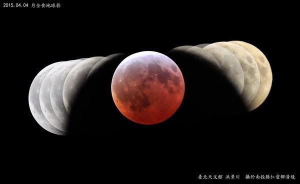 月食时的地球影子