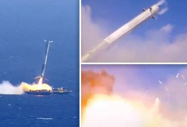 """节流阀问题致""""猎鹰9""""火箭海上着陆失败"""