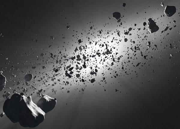 对抗太空垃圾,专家提议使用激光雷射,图为模拟图片。