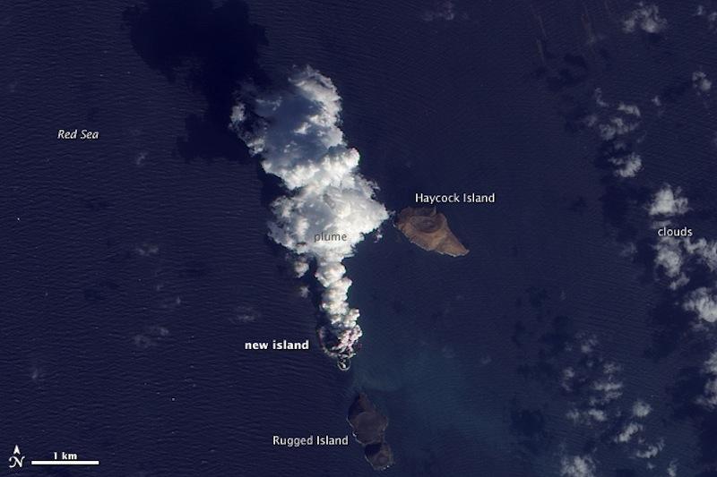 《自然—通讯》论文描述红海南部两个火山岛的诞生和演化