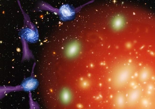 """星系死于""""绞杀"""":气体供应停止导致逐步走向衰亡"""
