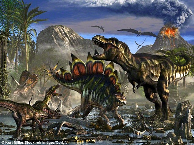 人类的生存时代比剑龙更接近霸王龙:尽管剑龙和霸王龙都是恐龙世界的成员,但是它们从未生活在同一时期,剑龙生活在侏罗纪时期,大约在8000万年前灭绝,霸王龙于850