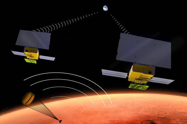 火星CubeSat微型卫星将有两颗微型卫星构成,可担任火星着陆器与地球之间的中继通信