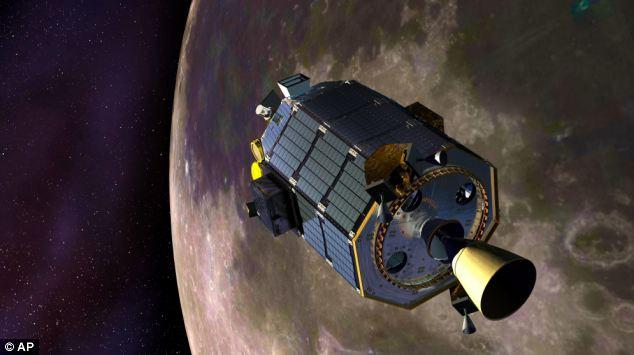 环绕月球飞行点的宇宙飞船Ladee
