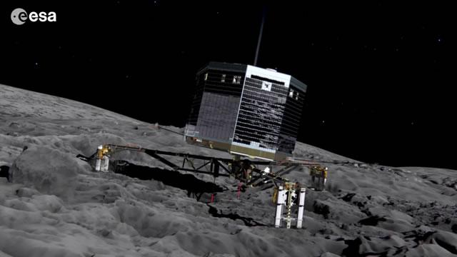 """""""菲莱""""在结束大约7个月的休眠后,于6月13日和14日先后两次向地球发送状态数据。"""