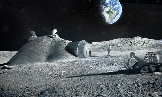 欧洲航天局计划在2024年开始打造人类史上首个月球基地