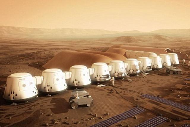 """""""火星一号""""的目标是在火星上建立一个定居点,2027开始建造,第一批四名宇航员会前往火星"""