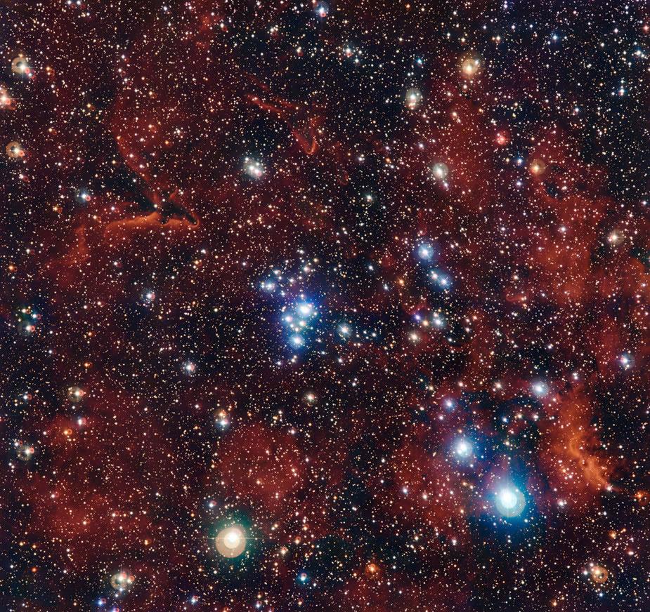 欧洲南方天文台(ESO)发布年轻的疏散星团NGC2367