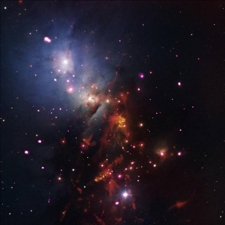 宇宙烟花:NGC 1333星团数十颗年轻恒星同时燃烧色彩璀璨
