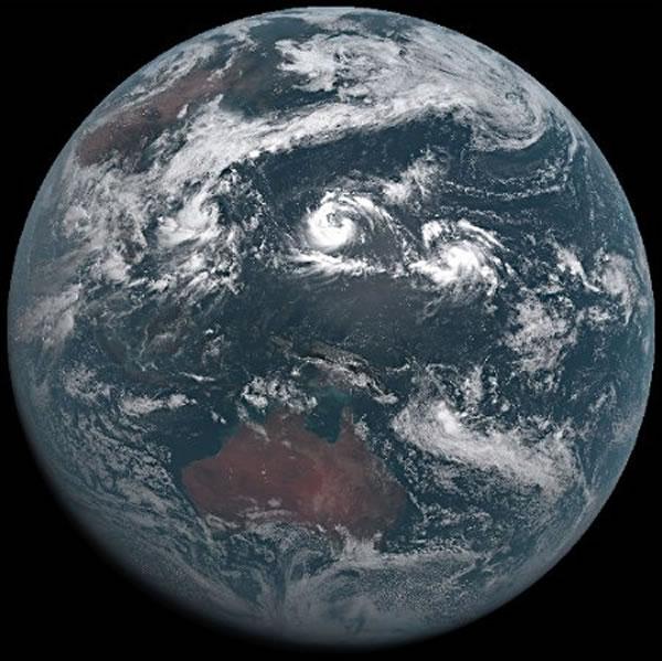 该卫星本月6日传回的图像