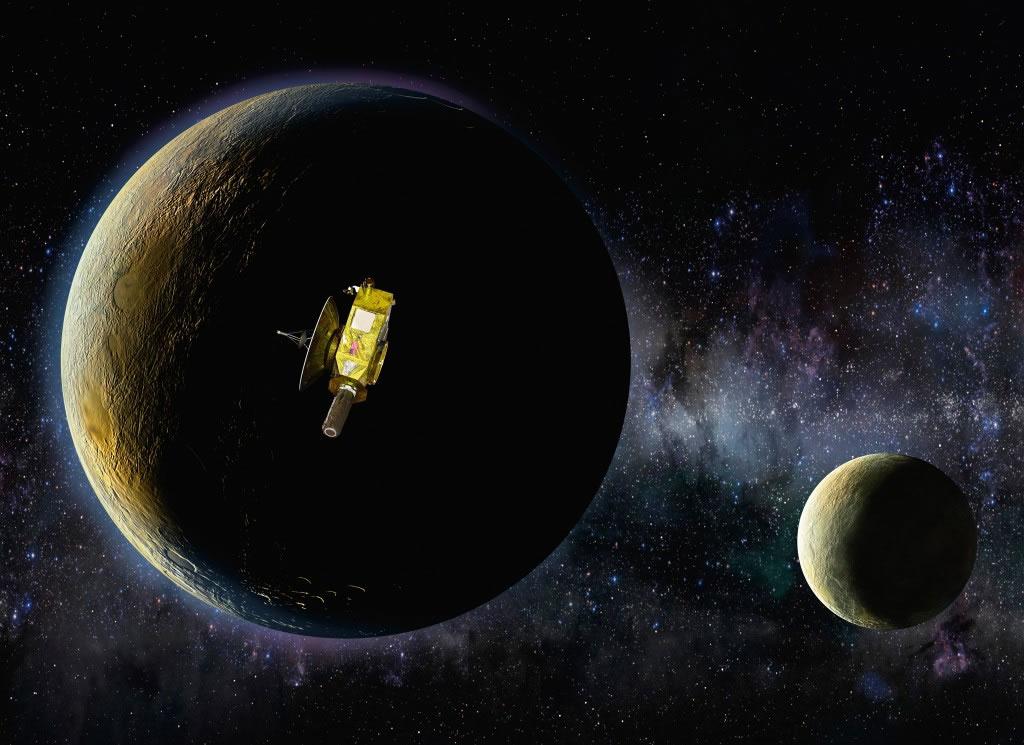 """""""新视野""""号探测器将于7月14日从冥王星上方约1万公里处飞过"""