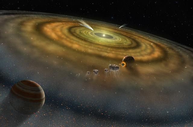 星子慢慢从行星胚胎成长为行星,而矮行星是没有长大的侏儒行星,是联系小行星和行星之间的纽带