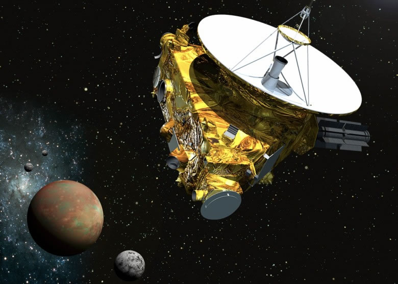 新视野号至今飞行了48亿公里,历时9年多终飞抵冥王星。图为构想图。