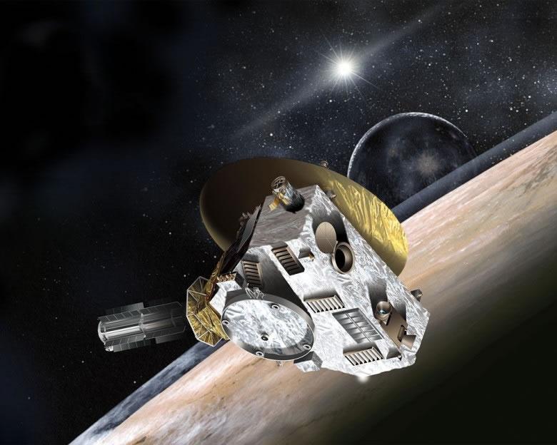 新视野号已于北京时间周二晚飞越冥王星。图为画家笔下概念图。