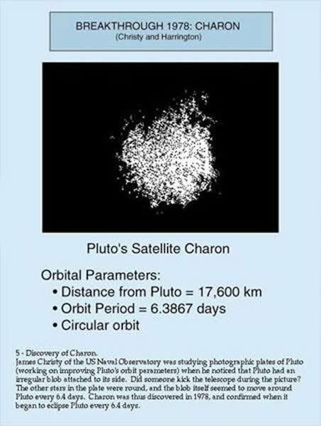 1978年对发现冥卫一卡戎(Charon)图像的描述
