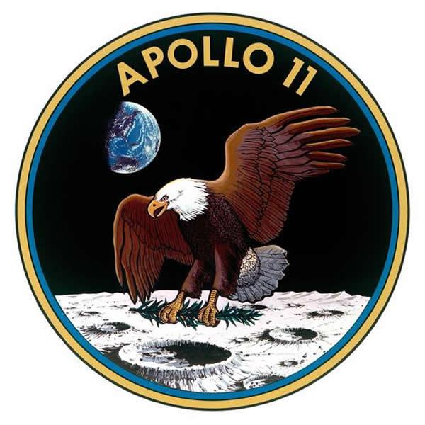执行人类首次登月任务的阿波罗-11号任务徽标