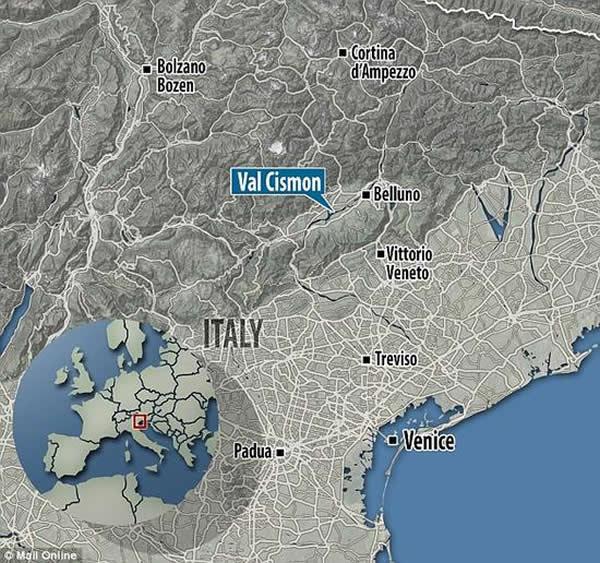 这一古人遗骸的发现地位于今天意大利的东北部