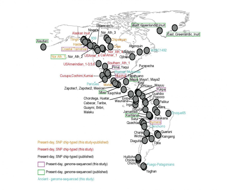 基因数据提示美洲原住民的祖先是如何及在什么时候进入美洲