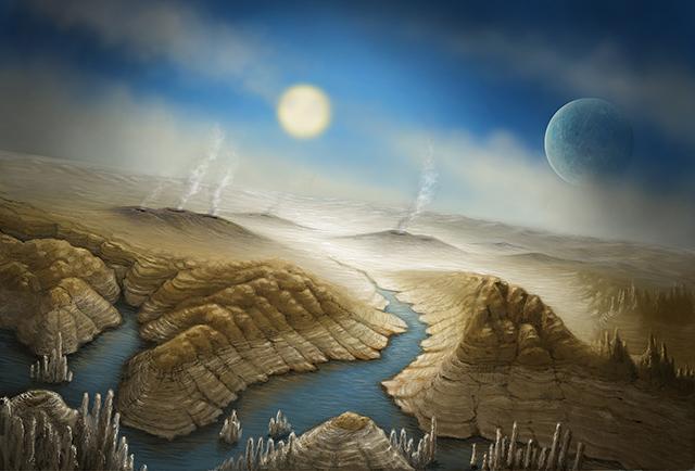 艺术家笔下描绘的开普勒452b