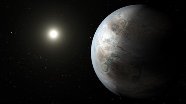 """开普勒空间望远镜发现的首颗太阳系外最相似于地球的行星""""开普勒-452b"""""""