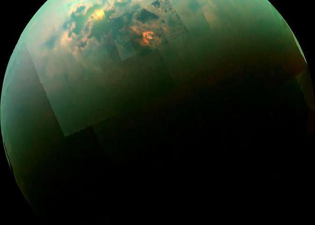科学家认为土卫六上的海洋与甲烷和乙烷为主,蒸发物质组合最有可能的是烃和腈