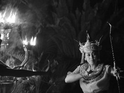 印尼巴厘岛的乌布庆典舞者