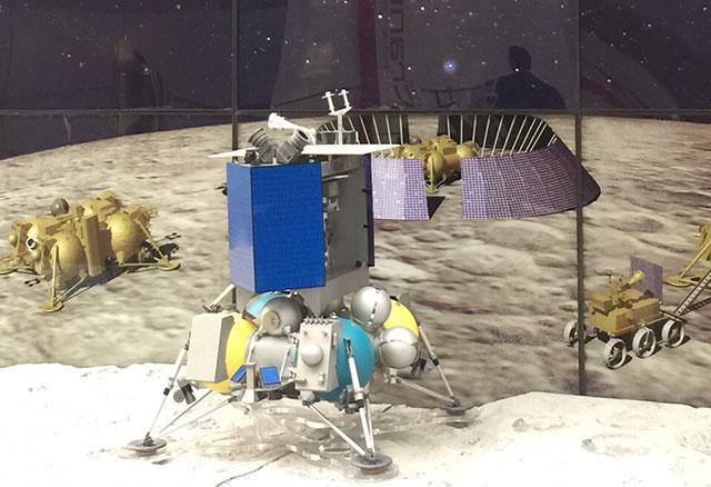 """俄罗斯""""月球—国际(Luna-Globe)""""探测器模型"""
