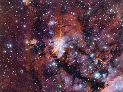 """智利拉西拉天文台MPG/ESO望远镜拍摄到""""宇宙对虾""""——""""古姆56星云"""""""