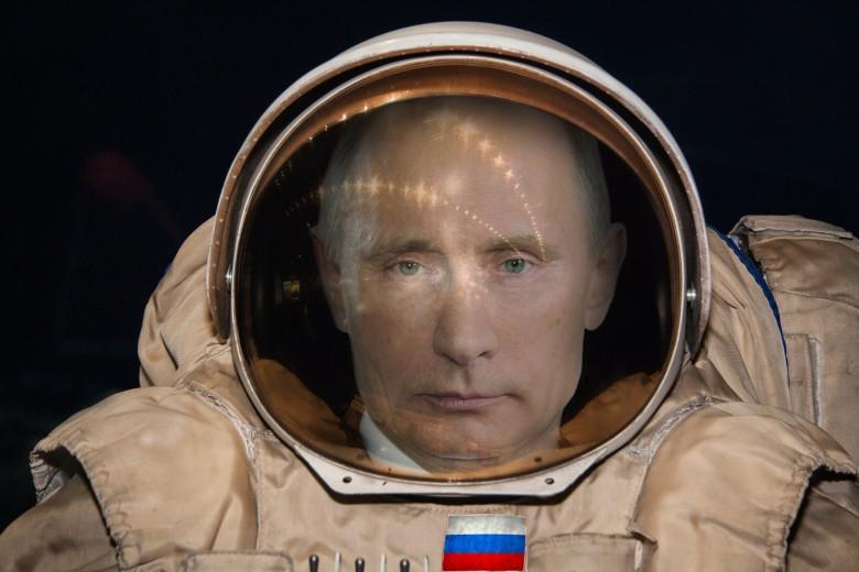 俄罗斯总统普京有一个太空梦。图为网民改图。