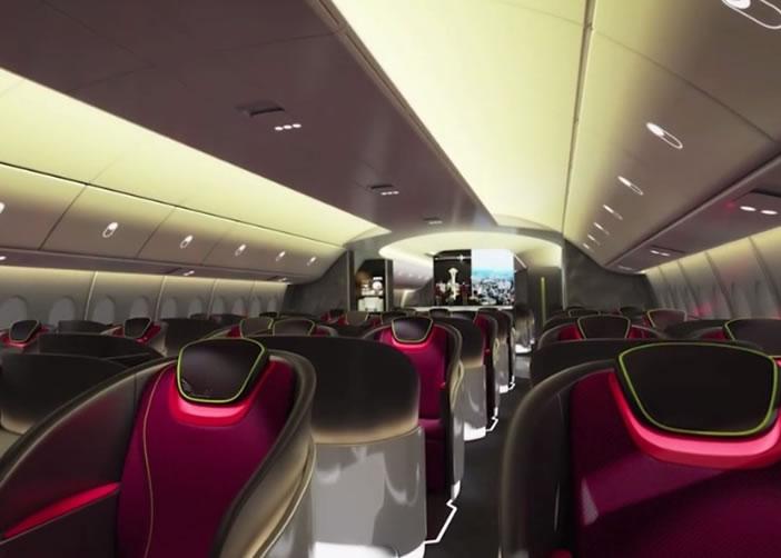 机舱内部环境经设计特别,令乘客拥有更舒适的飞行体验。