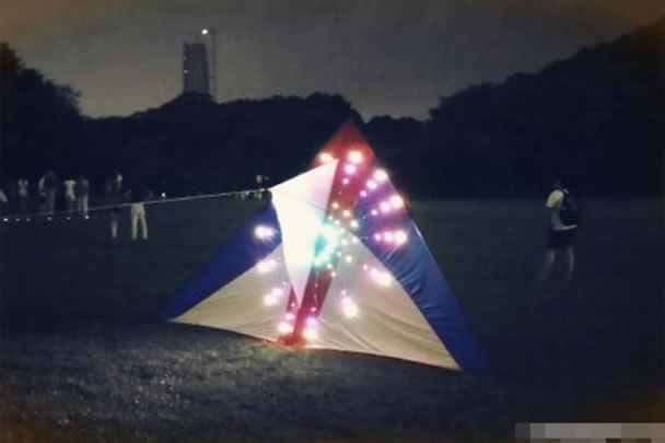 图为电子风筝