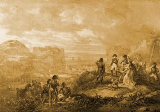 当时岛上除了拿破仑外,还有约60名随从及看守人。