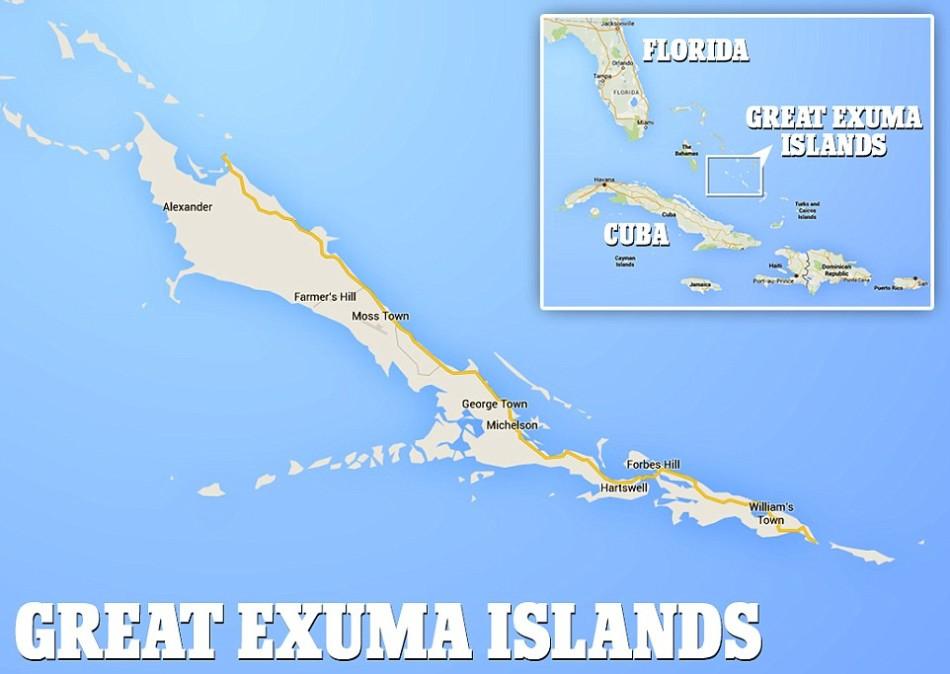 埃克苏马是巴哈马的一个行政区域,包括365个大小岛屿,其中最大的一个岛屿就是大埃克苏马岛,其长度约37英里(约60公里),近旁还有小埃克苏马岛