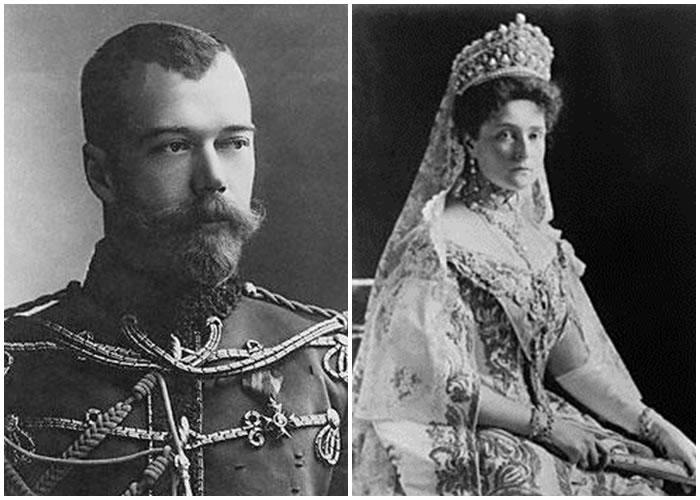 末代沙皇尼古拉二世(左图)和费奥多罗芙娜皇后(右图)的骸骨将被重起检验。