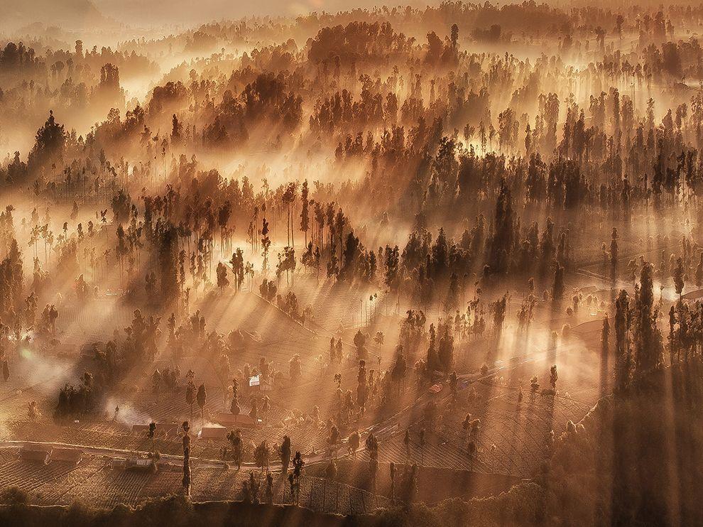 印尼东爪哇省布罗莫火山景色