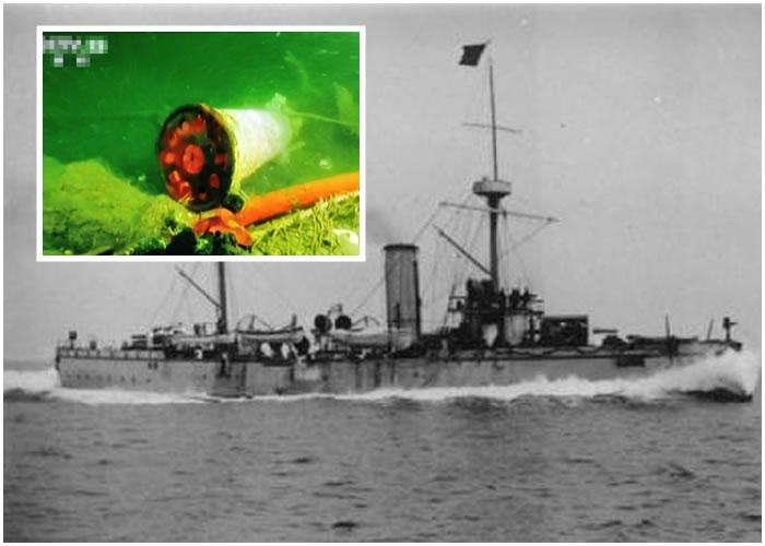 """去年在黄海发现的""""丹东一号"""",已被证实为北洋舰队的致远舰。"""