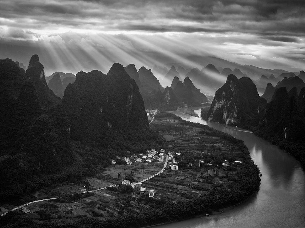 广西桂林阳朔的早晨