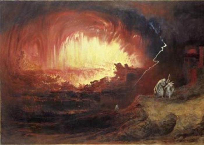 后世艺术家描绘当年大火烧城的景象