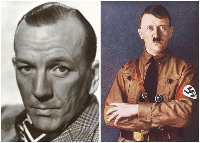 英国着名剧作家兼演员寇威尔(图左)想希特勒(图右)炸掉好莱坞。