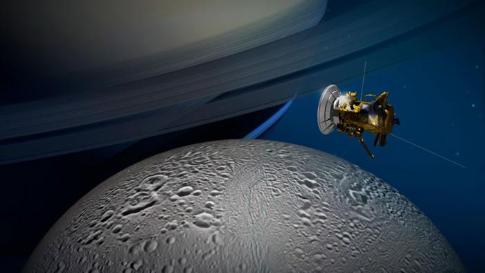 土星探测器卡西尼号飞船在距离土卫二50公