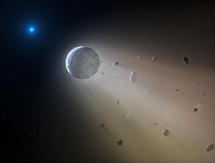 570光年外室女座白矮星正在摧毁一颗行星