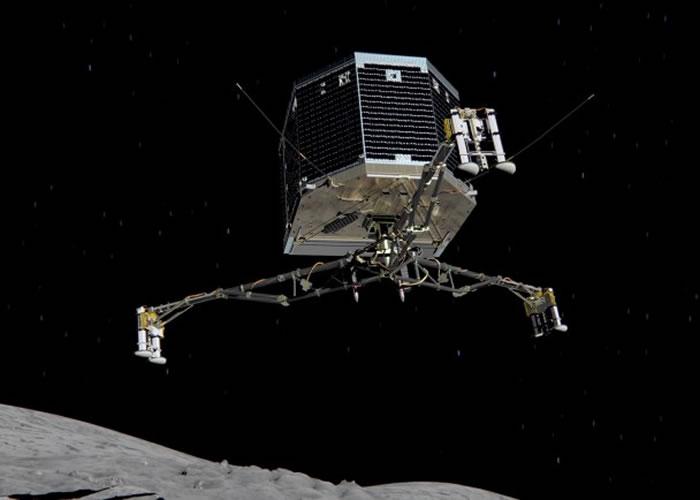 菲兰正于彗星上搜集资料