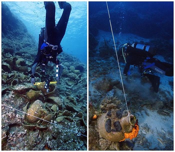 希腊弗尔尼岛海底发现22只年代久远的古沉船 有众多珍贵文物
