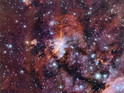 "MPG/ESO望远镜捕捉""恒星育婴室""对虾星云新图像"