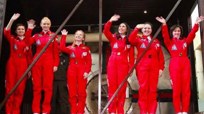 6名女太空人禁闭8日,模拟去月球的情况。
