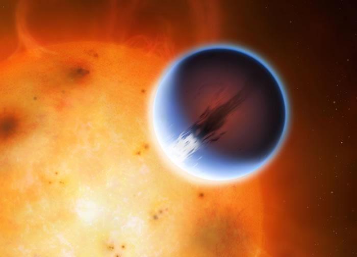 科学家发现系外行星H猎奇诡异头像D 189733b上出现巨大