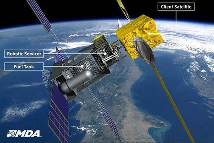 太空機器人可執行一系列任務,如給衛星添加燃料、修建空間站等