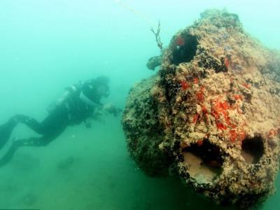 日军偷袭美国珍珠港74周年:夏威夷海底美军PBY-5卡特琳娜水上飞机残骸照