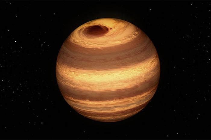 """这颗代号为""""W1906+40""""的小型恒星拥有类似木星红斑的""""大暗斑"""",位于它的北极附近"""
