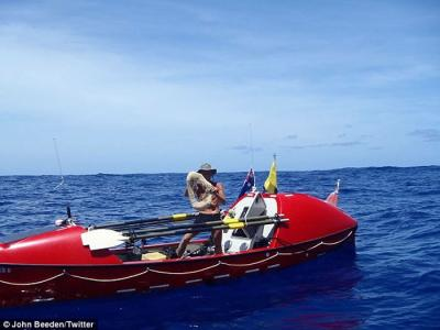 英国53岁男子John Beeden成史上第一个直接横跨太平洋的人